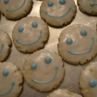 Almond Flavored Smiley Cookies